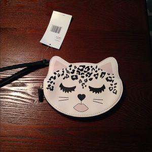 NWT Luv Betsey leopard wristlet